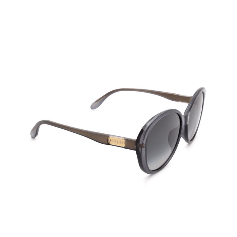 Gucci® Round Sunglasses: GG0793SK color Grey 001.