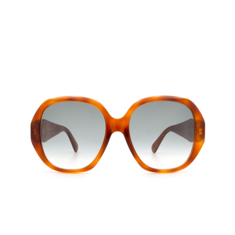 Gucci® Round Sunglasses: GG0796S color Havana 003.