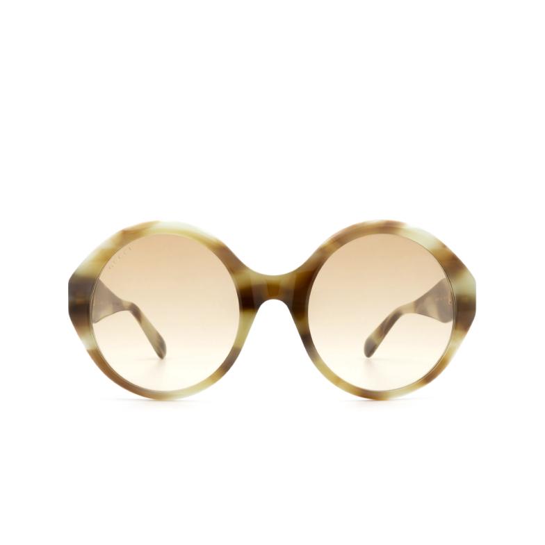 Gucci® Round Sunglasses: GG0797S color Havana 003.
