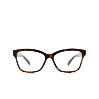 Gucci® Square Eyeglasses: GG0798O color Havana 005.