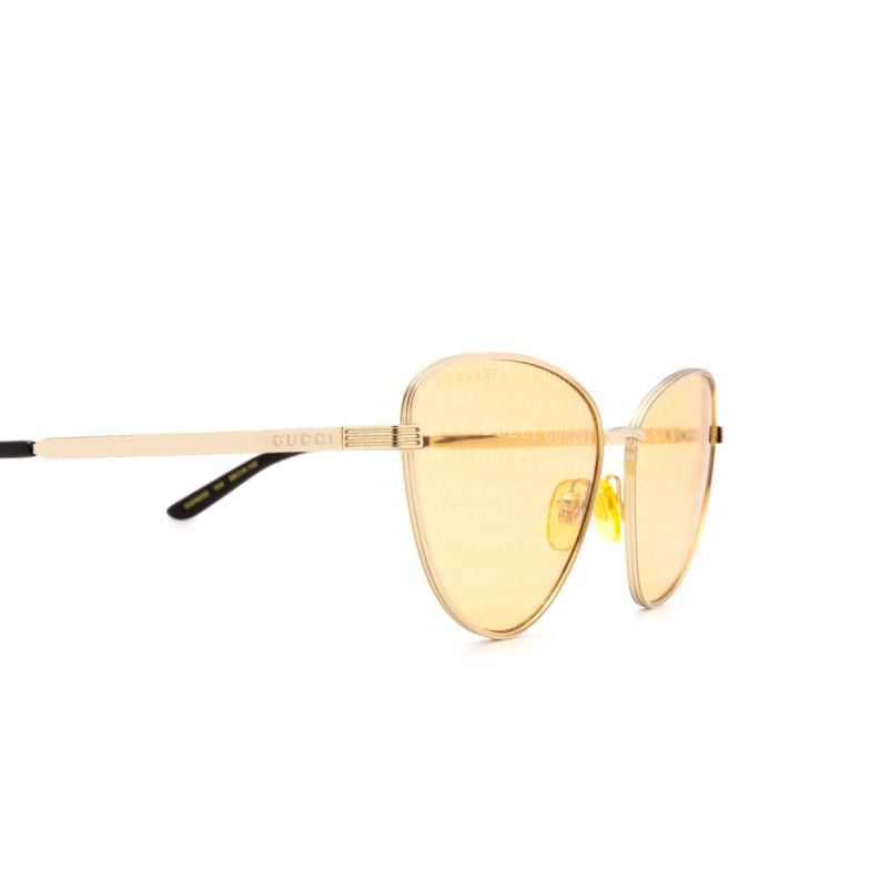Gucci® Cat-eye Sunglasses: GG0803S color Gold 004.