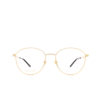 Gucci® Round Eyeglasses: GG0806O color Gold 004.