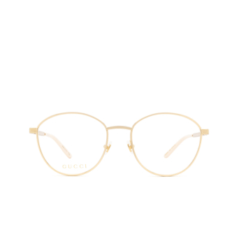 Gucci® Round Eyeglasses: GG0806O color Gold 006.