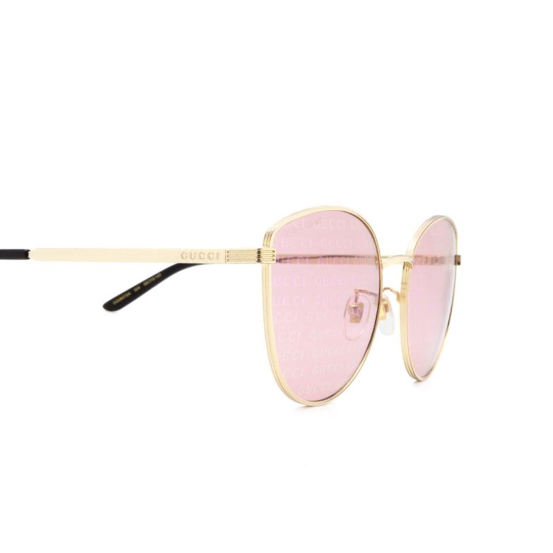 Gucci® Cat-eye Sunglasses: GG0807SA color Gold 004.