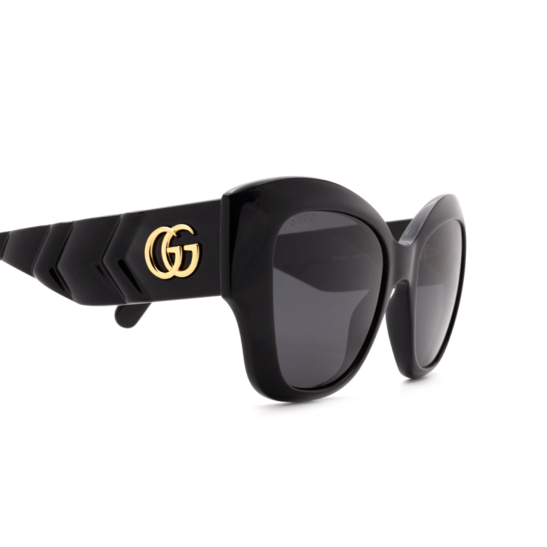 Gucci® Cat-eye Sunglasses: GG0808S color Black 001.