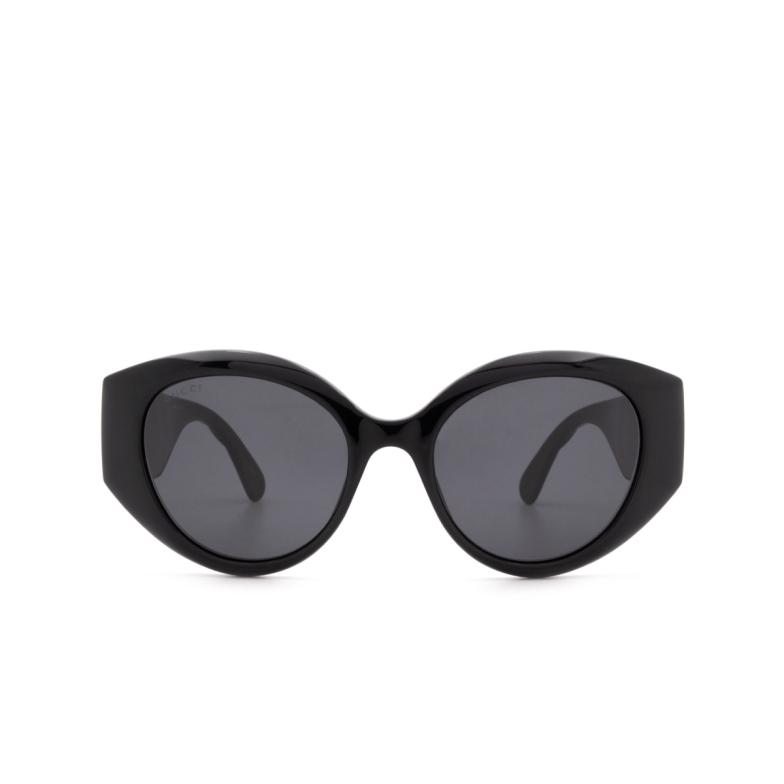 Gucci® Cat-eye Sunglasses: GG0809S color Black 001.