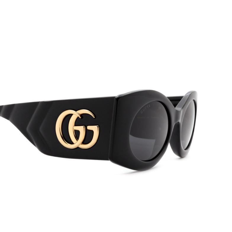 Gucci® Cat-eye Sunglasses: GG0810S color Black 001.