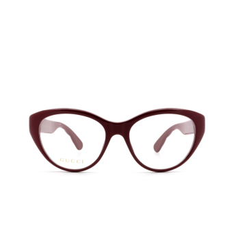 Gucci® Cat-eye Eyeglasses: GG0812O color Burgundy 003.