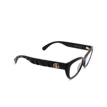 Gucci® Cat-eye Eyeglasses: GG0813O color Black 001.