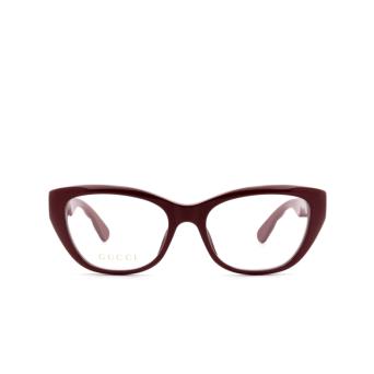 Gucci® Cat-eye Eyeglasses: GG0813O color Burgundy 003.