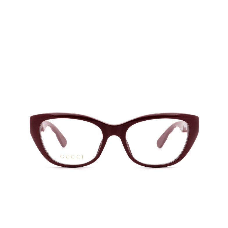 Gucci® Cat-eye Eyeglasses: GG0813O color Burgundy 003.