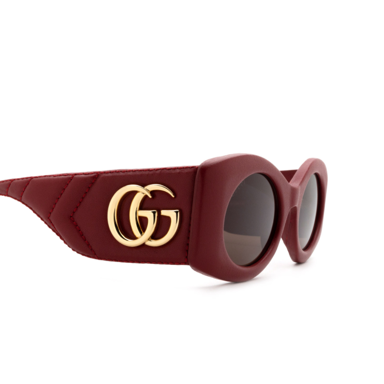 Gucci® Cat-eye Sunglasses: GG0815S color Red 001.