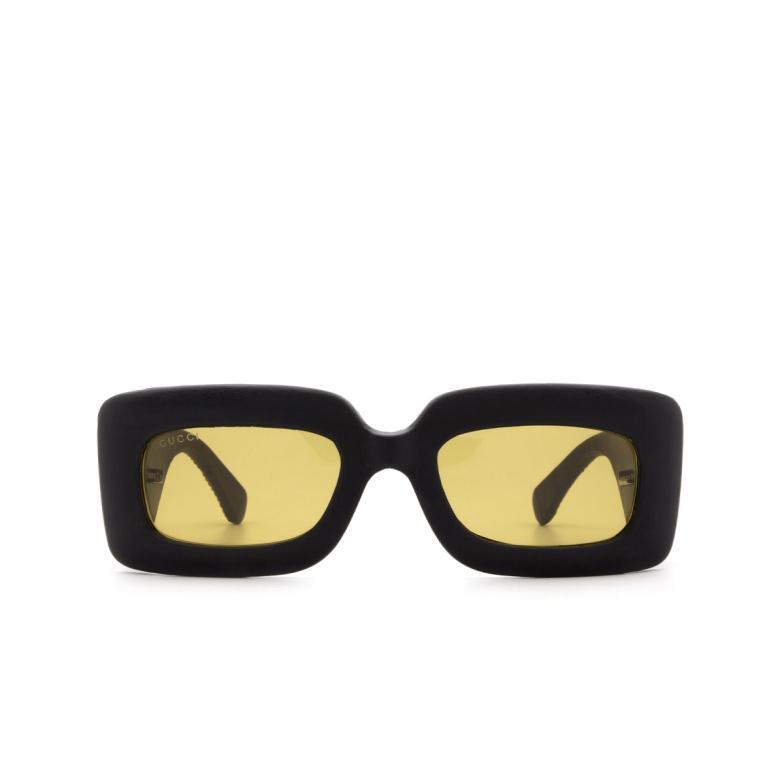 Gucci® Rectangle Sunglasses: GG0816S color Black 001.