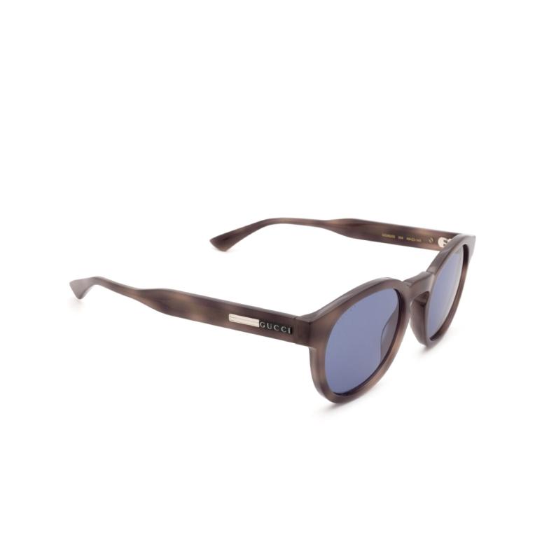 Gucci® Round Sunglasses: GG0825S color Havana 004.