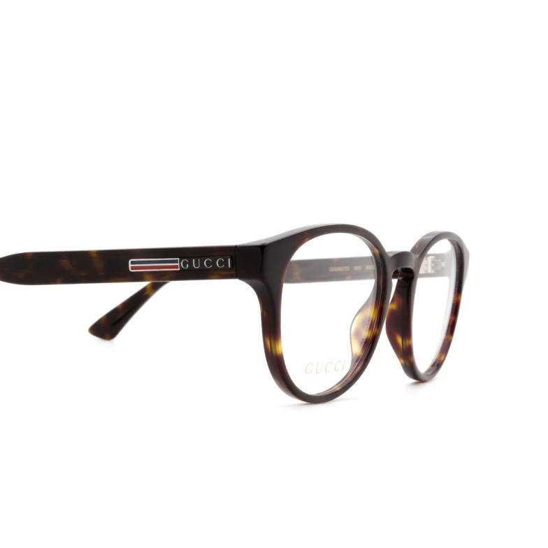 Gucci® Round Eyeglasses: GG0827O color Havana 005.