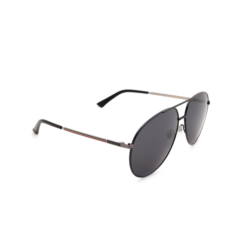 Gucci® Aviator Sunglasses: GG0832S color Black 001.