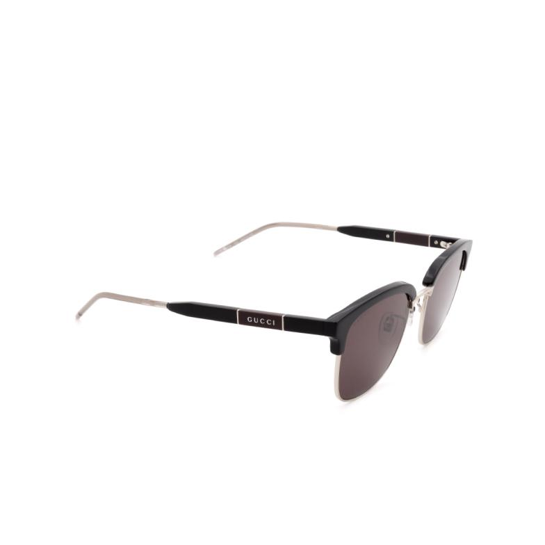 Gucci® Square Sunglasses: GG0846SK color Black 002.