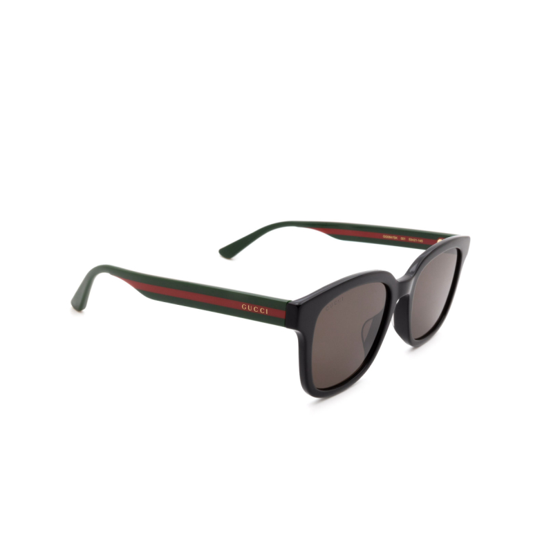 Gucci® Square Sunglasses: GG0847SK color Black 001.