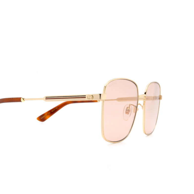 Gucci® Square Sunglasses: GG0852SK color Gold 005.