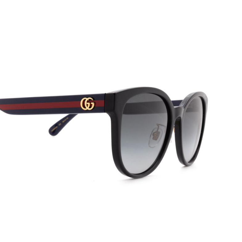 Gucci® Round Sunglasses: GG0854SK color Black 002.