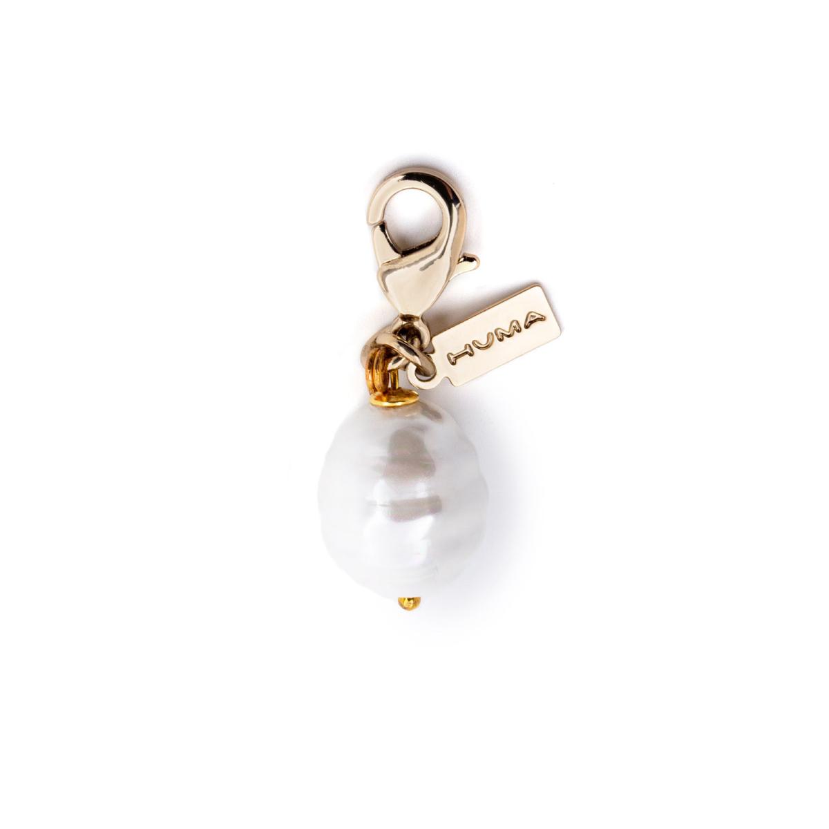 Huma® Accessories: Earring River Pearl color Gold E21.