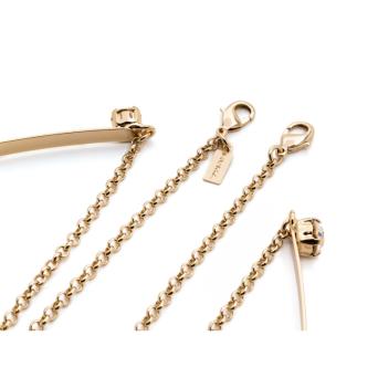 Huma® Accessories: Rigid Collar With Chain/swarovski color Gold P07.