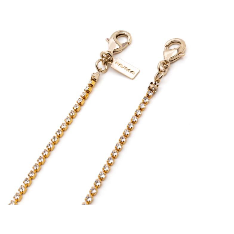 Huma® Accessories: Small Swarovski Chain color Gold S03.