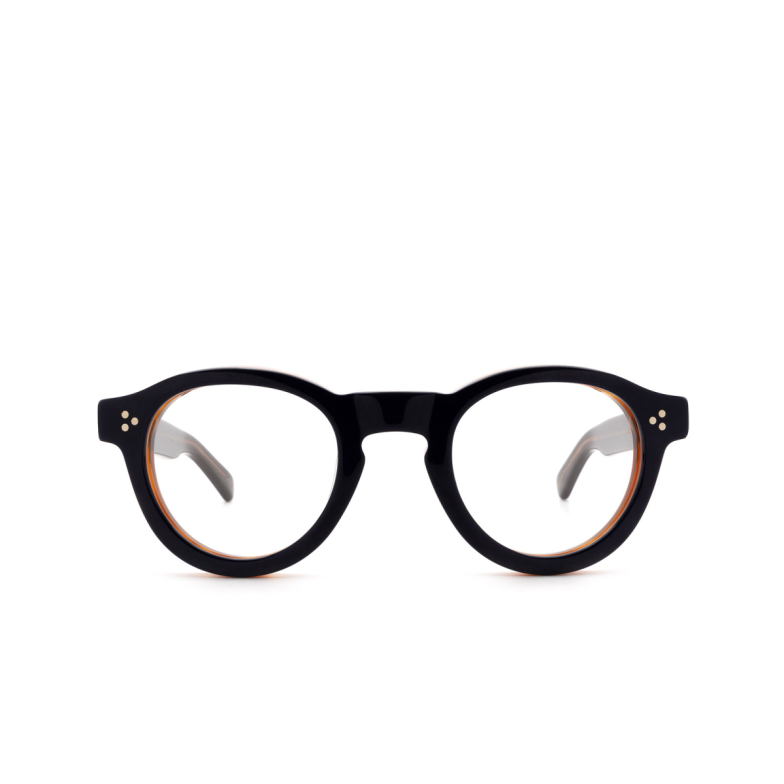 Lesca® Round Eyeglasses: Gaston Optic color Bleu / Cognac 30.