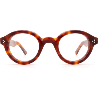 Lesca® Round Eyeglasses: La Corbs Optic color Blond.