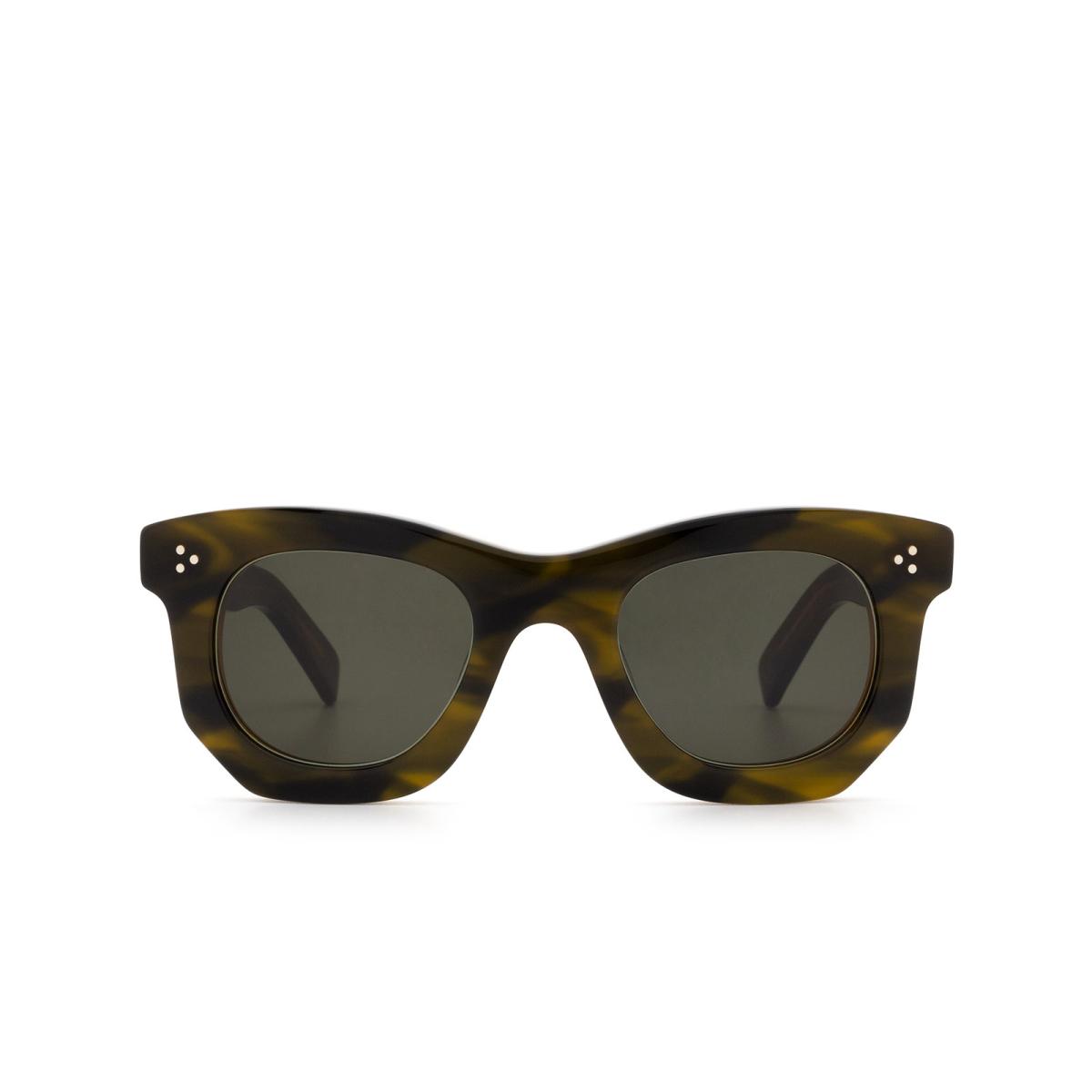 Lesca® Irregular Sunglasses: Ogre Sun color Khaki.