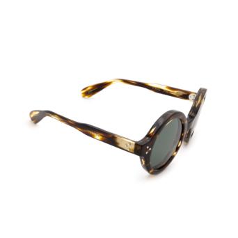 Lesca® Round Sunglasses: Phil Sun color Light Tortoise Tortoise A8.