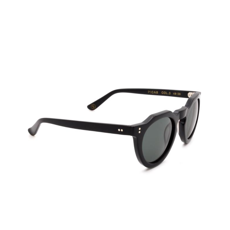 Lesca® Irregular Sunglasses: Picas color Noir 5.