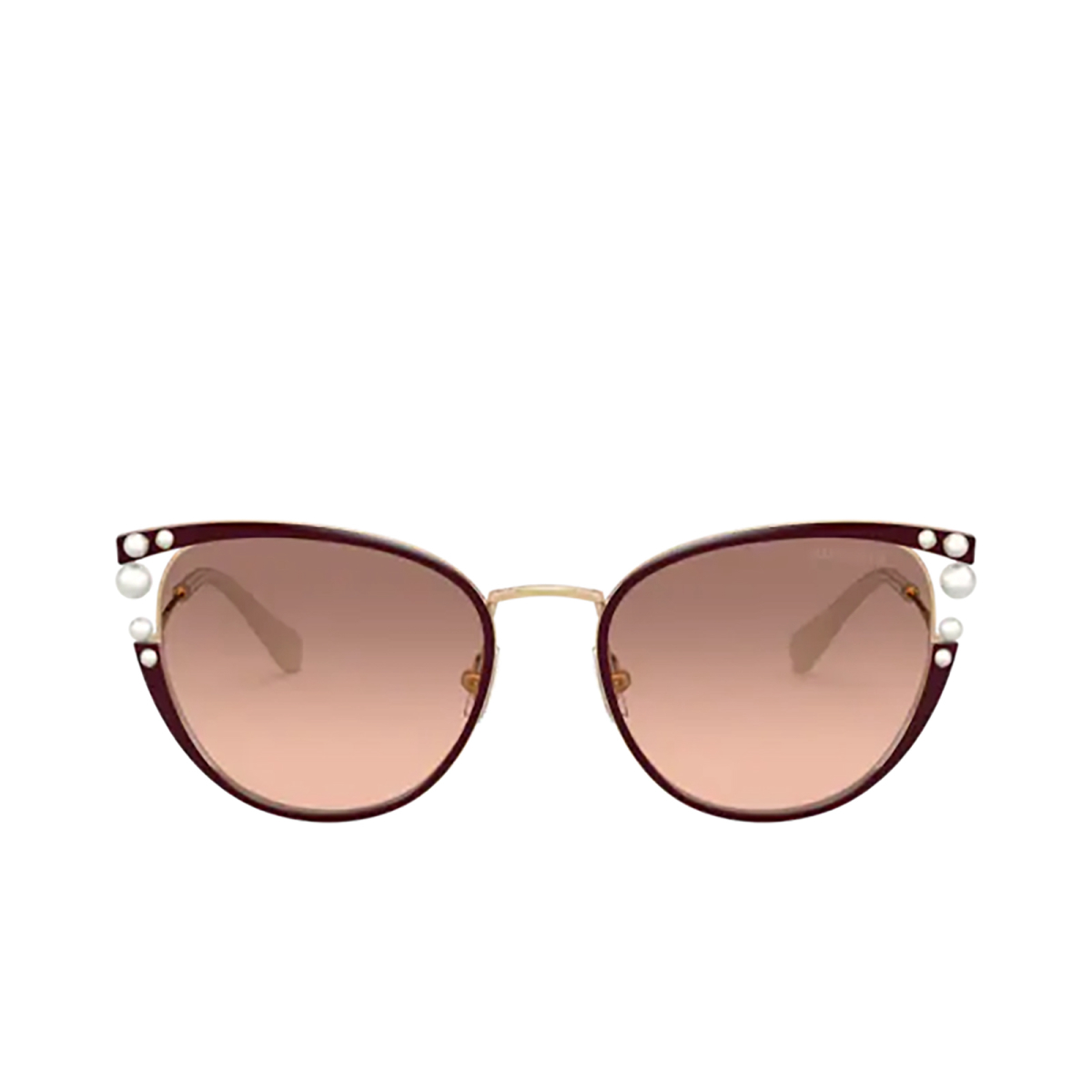 Miu Miu® Cat-eye Sunglasses: Core Collection MU 62VS color Bordeaux 04G0A5.