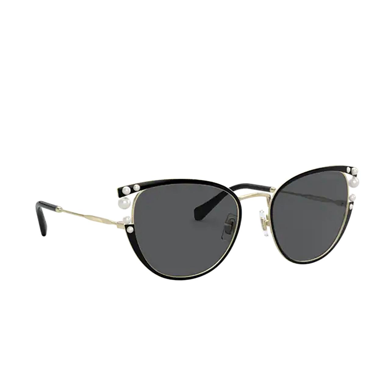 Miu Miu® Cat-eye Sunglasses: Core Collection MU 62VS color Black AAV5S0.