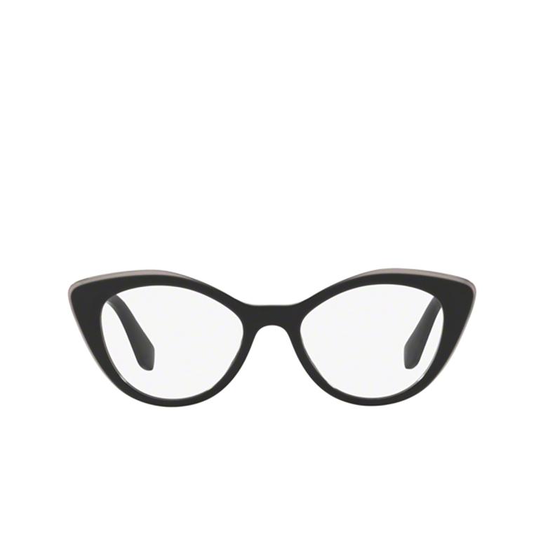 Miu Miu® Cat-eye Eyeglasses: MU 01RV color Black Top Grey K9T1O1.