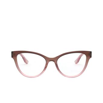 Miu Miu® Butterfly Eyeglasses: MU 01TV color Brown Gradient 04I1O1.