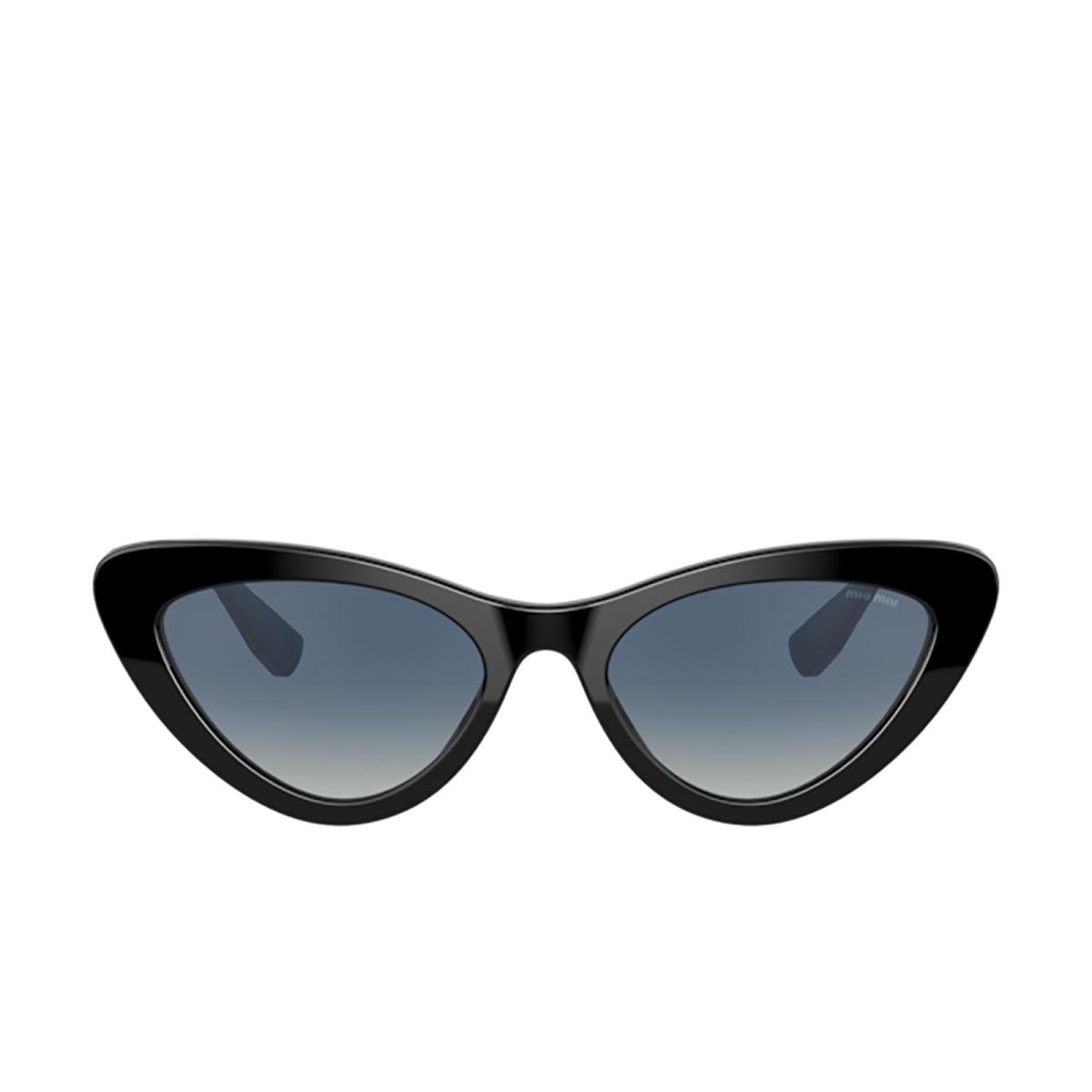 Miu Miu® Cat-eye Sunglasses: MU 01VS color Black 1AB3A0.