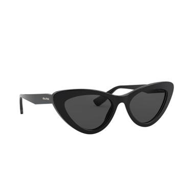 Miu Miu® Cat-eye Sunglasses: MU 01VS color Black 1AB5S0.