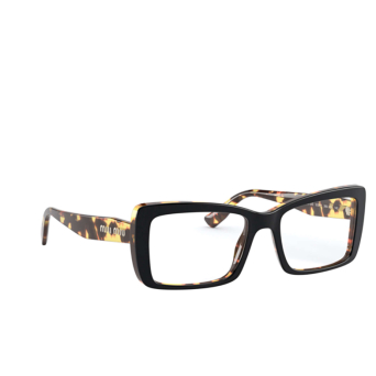 Miu Miu® Rectangle Eyeglasses: MU 03SV color Top Black / Light Havana 3891O1.