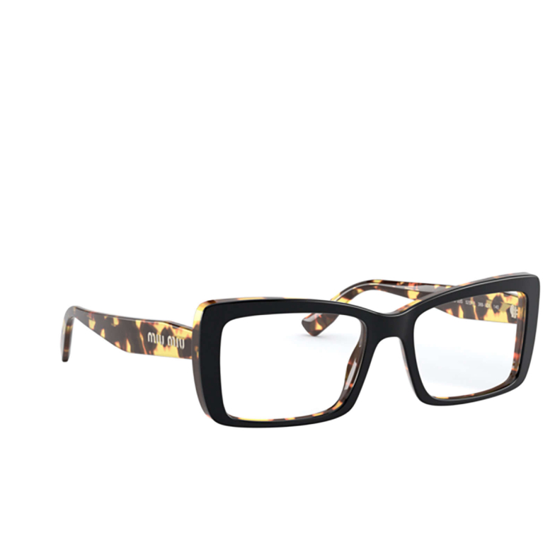 Miu Miu® Rectangle Eyeglasses: MU 03SV color Top Black / Light Havana 3891O1.