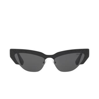 Miu Miu® Cat-eye Sunglasses: MU 04US color Black VW31A1.