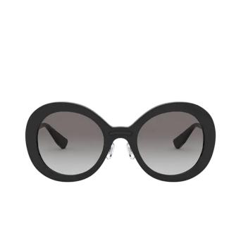 Miu Miu® Round Sunglasses: MU 04VS color Black 1AB0A7.