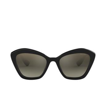 Miu Miu® Cat-eye Sunglasses: MU 05US color Black 1AB5O0.