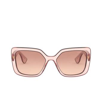 Miu Miu® Square Sunglasses: MU 09VS color Pink Transparent 01I0A5.