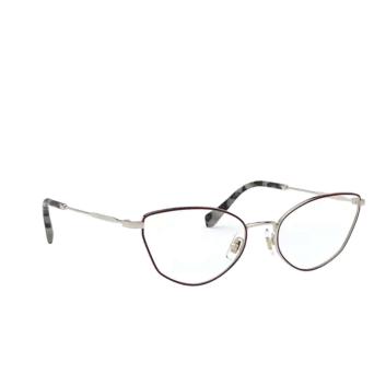 Miu Miu® Cat-eye Eyeglasses: MU 51SV color Pale Gold / Bordeaux 09B1O1.