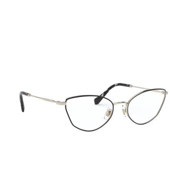 Miu Miu® Cat-eye Eyeglasses: MU 51SV color Pale Gold / Black AAV1O1.