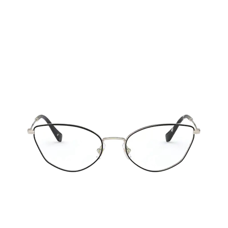 Miu Miu® Cat-eye Eyeglasses: MU 51SV color Pale Gold / Black AAV1O1.