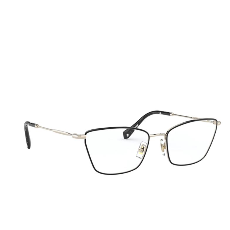 Miu Miu® Cat-eye Eyeglasses: MU 52SV color Pale Gold / Black AAV1O1.