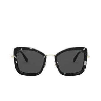 Miu Miu® Irregular Sunglasses: MU 55VS color Havana Black White PC75S0.