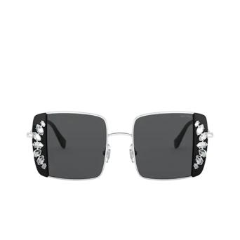 Miu Miu® Square Sunglasses: MU 56VS color Silver / Black 01E5S0.